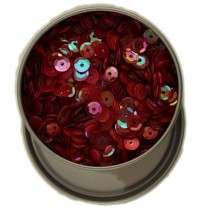 Buttons Galore Sequins 6mm Rouge