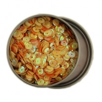 Buttons Galore Sequins 6mm Jaune & Orange