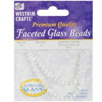 Crystal Glass Beads à facettes