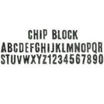 Sizzix Decorative Strip Chip Block Alphabet Découpe