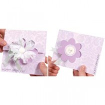 Sizzix Movers & Shapers L Die - Carte Flip-Its Fleur