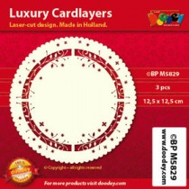 Card Layer Lierre Rond Ivoire