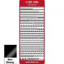 Peel Off Alphabet Élégant minuscule noir