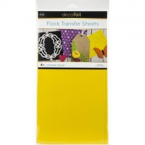 Thermoweb Deco Foil Flock Transfer Sheets Sunshine Yellow