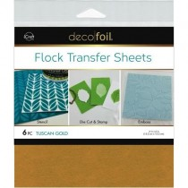 Deco Foil Flock Transfer Sheets Tuscan Gold