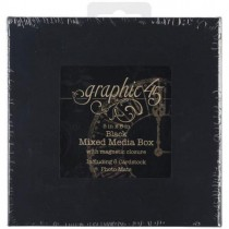 Graphic45 Staples Boîte Mixed Media noire