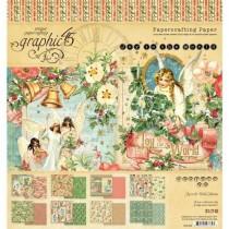 "Graphic 45 Pad 8"" X 8"" Joy To The World"