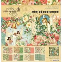 "Graphic 45 Pad 12"" X 12"" Joy To The World"