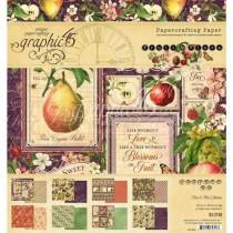 "Graphic 45 Pad 8"" X 8"" Fruit & Flore"