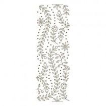 Spellbinders Glimmer Hot Foil Plate Bordure Fleurs