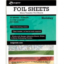 Ranger Shiny Transfer Foil Sheets Holiday