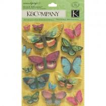 K&Company Autocollants 3D Papillons