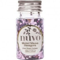 Nuvo Confetti Muted Mauve Hexagons