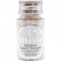 Nuvo Confetti Rainbow Quartz Triangles