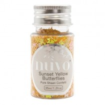 Nuvo Confetti Sunset Yellow Butterflies