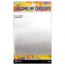 Tim Holtz papiers pour Alcohol Ink Argent brossé
