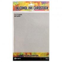 Tim Holtz papiers pour Alcohol Ink Argent scintillant