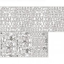 Grungeboard Alphabet