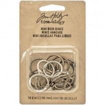 "Tim Holtz Anneaux 0.75"" Silver, Antique Brass & Antique Copper"