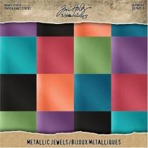 """Tim Holtz Pad Kraft & Métallique 8"""" X 8"""" Jewels"""