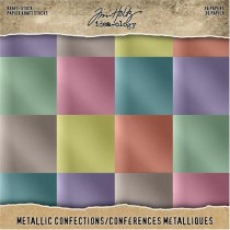 "Tim Holtz Pad Kraft & Métallique 8"" X 8"" Confections"
