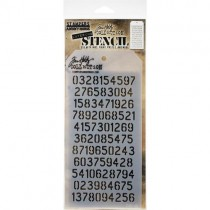 Tim Holtz Stencil Digits -Layered