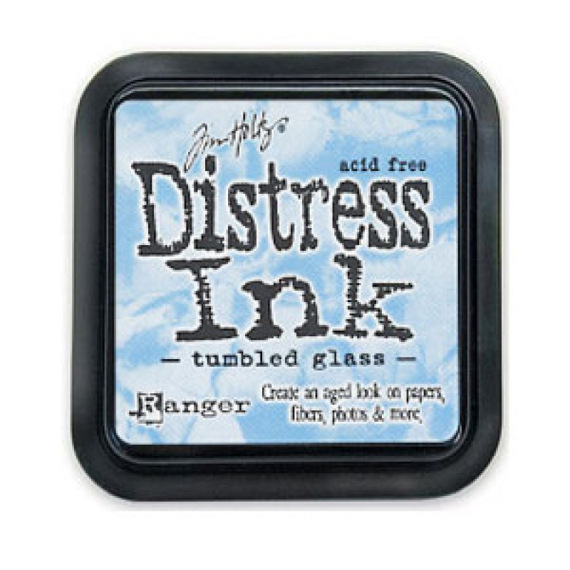 Distress Ink Tumbled Glass""