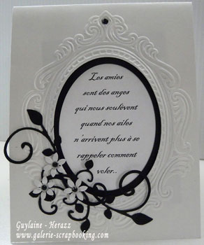 Plaque d'embossage Sizzix Textured Impressions Loving Thoughts