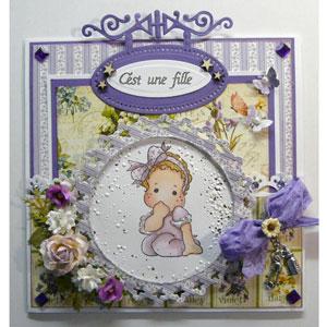 Étampe Magnolia - carte de bébé