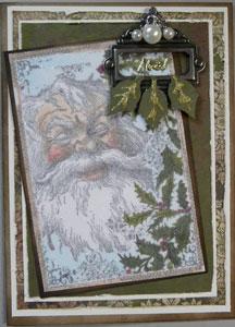 Étampe Lablanche carte de Noël glitter