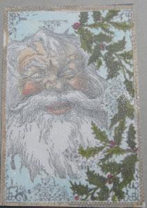 père noel glitter pour carte de noel