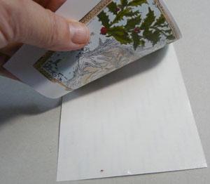 technique scrapbooking glitter
