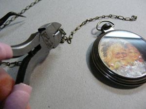 chainette et montre de poche tim holtz