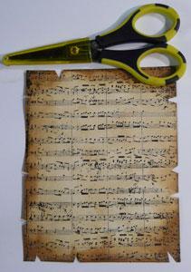 technique scrap vieillissement de papier pour carte de noel