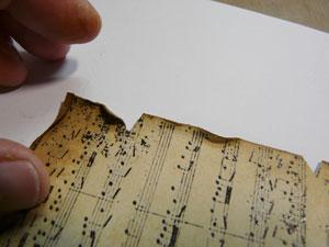 vieillir papier scrapbooking