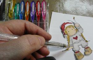 crayon métallique uni ball signo