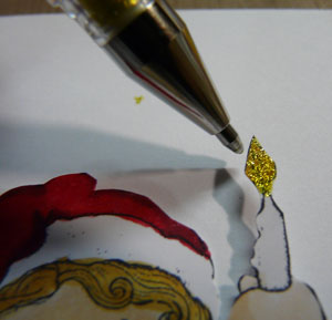 crayons stylo uni ball signo métallique