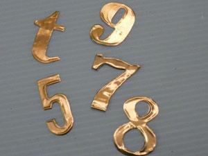 chiffre et lettre métallique scrapbooking