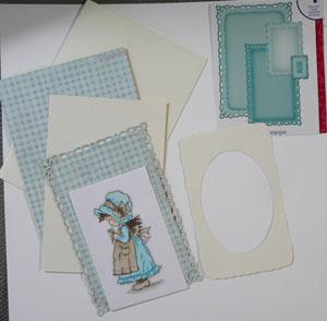 carte de scrapbooking avec spellbinders romantic rectangle