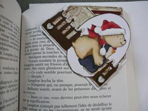 Projet de noel en scrapbooking - signet de Noel en coin