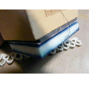 coloriez dentelle avec distress ink chipped sapphire