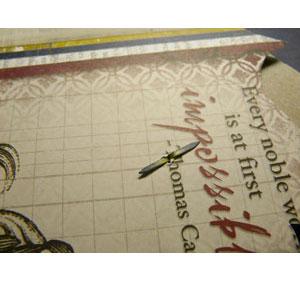 brads pour fixer le calendrier scrapbooking 2011
