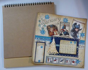 Montage calendrier scrapbooking Graphic45