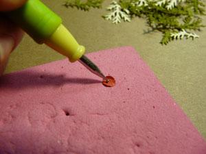mini fleurs scrapbooking avec stylet