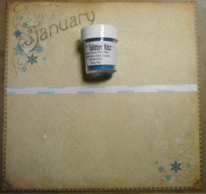 Projet scrapbooking calendrier 2013