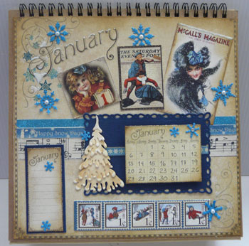 Calendrier 8 x 8 Graphic 45 - Place in time