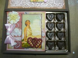 chocolat et scrapbooking St Valentin