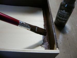 peinturer avec paint dabber espresso