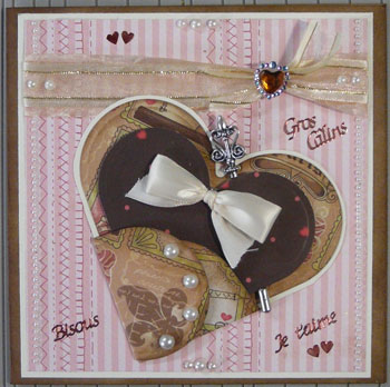 scrapbooking carte St-Valentin