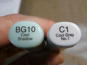 Copic sketch C1 et BG10